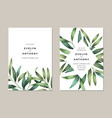 bright spring leaves wedding invitation vector image vector image