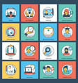 business flat creative icon pack vector image vector image