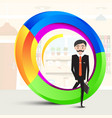 business man inside abstract colorful shape man vector image