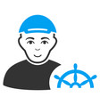 captain flat icon vector image vector image