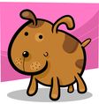 cartoon of cute spotted dog vector image vector image