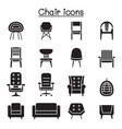 chair and sofa front view icon set graphic vector image vector image