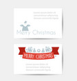 christmas celebratory banner vector image vector image
