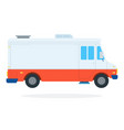 closed food truck flat isolated vector image