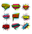 comic set colored comics book phrase balloon vector image