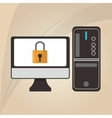 Cyber Security antivirus design vector image vector image