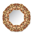 Decorative plate with ornament vector image vector image
