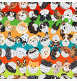 dogs with respirator pattern colorful vector image vector image