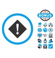 Error Flat Icon with Bonus vector image vector image