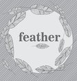 Feather seamless pattern vector image vector image