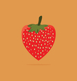 Fresh red strawberry on orange background vector image vector image