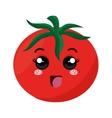 fresh tomate kawaii style vector image