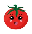 fresh tomate kawaii style vector image vector image