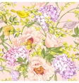 Gentle Spring Floral Seamless Background vector image vector image