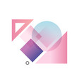 gradient geometric forms in blue pink and purple vector image