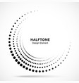 halftone incomplete circle frame vector image