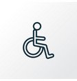 handicapped outline symbol premium quality vector image vector image
