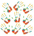 hands grunge silhouette vector image vector image