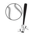 Hands holding baseball bat and big ball vector image vector image