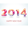 Happy New Year 2014 colorful greeting card vector image vector image