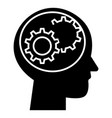 human head - settings icon vector image