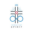 immortal god conceptual logo design combined with vector image vector image