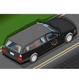 Isometric Hearse in Rear View vector image