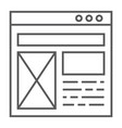 Layout thin line icon website and design