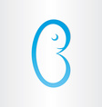 letter b embrion baby reproduction birth symbol
