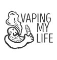 logo of the person with an electronic cigarette vector image vector image