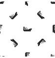 marine ship pattern seamless black vector image