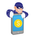 mobile money thief vector image vector image