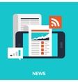 mobile news vector image