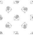 money in envelope pattern seamless vector image vector image