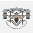 Motivational emblem of bodybuilding vector image vector image