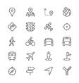 Navigation thin icons vector image vector image