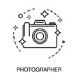 photo camera isolated outline icon photographer vector image