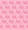 pig seamless pattern piglet background farm vector image vector image