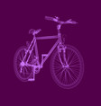 polygonal bike of pink lines isolated detailed vector image