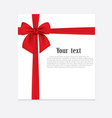 realistic red bow and ribbon isolated on vector image vector image