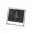 retro photo frame hand drawn sketch template vector image