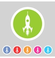 Rocket icon flat web sign symbol logo label vector image vector image