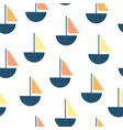 seamless pattern boats vintage screen vector image vector image