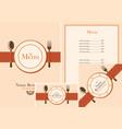set design elements for a cafe or restaurant vector image vector image