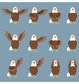set flat eagle icons vector image
