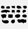 set hand drawn black speech bubble cloud comic vector image