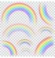 Set of transparent rainbows vector image vector image