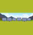 solar panels field clean alternative energy source vector image