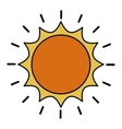 sun drawing isolated icon design vector image