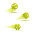 tennis moving set vector image vector image